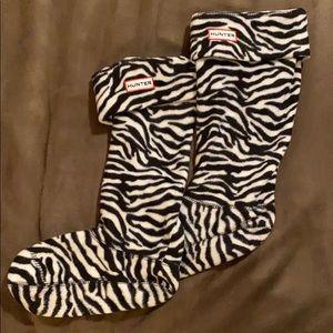 Zebra Hunter Tall Boot Socks
